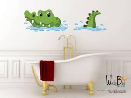 crocodile reusable fabric nursery wall decals gator wall decal