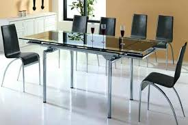 Black Glass Dining Room Sets Modern Glass Top Dining Table