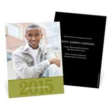 graduation announcements class crest pear tree greetings