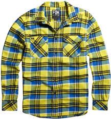 fox motocross shirt 56 50 fox racing mens trent long sleeve plaid flannel 195506