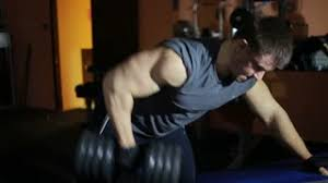 Bench Press With Dumbells - dumbbell bench press with one hand on the biceps hands training