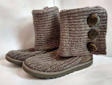 womens ugg knit boots womens ugg australia cardy wool knit boots authentic grey