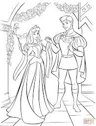 aurora and phillip are hosting a masked ball coloring page free