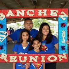 large styrofoam photo frame prop for family reunion i