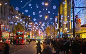 sale in london oxford street beautifully decorated with christmas