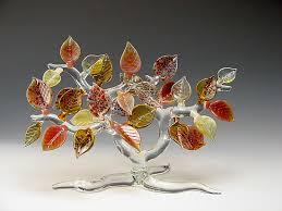 fall tree by bandhu dunham glass sculpture artful home