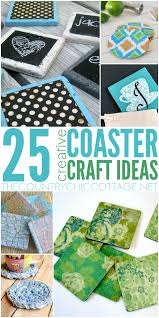 25 coaster crafts country chic cottage cottages and a project