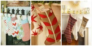 Homemade Christmas Stockings by 18 Diy Christmas Stockings How To Make Christmas Stockings Craft