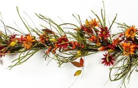 fall garland fall garland with flowers leaves and berries pip berry