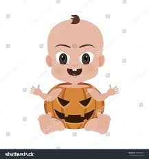 Baby Pumpkin Costume Abstract Cute Baby Pumpkin Costume On Stock Vector 240955597