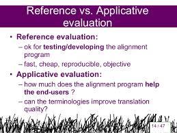 applicative evaluation of bilingual terminologies