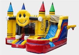 house emoji smiling emoji bounce house with water slide and pool the fun train