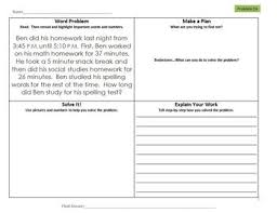 elapsed time word problems 3rd grade common core set 4
