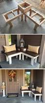 diy corner bench with built in table corner bench bench and porch