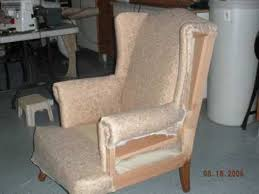 diy wing chair re upholster youtube