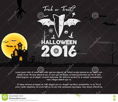 happy halloween 2016 poster trick or treat letters and halloween