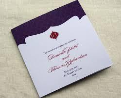 sle of wedding program wedding invitations front covers wedding invitation ideas
