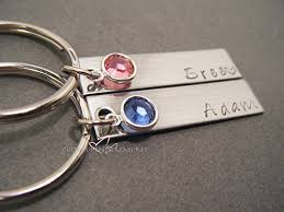 personalized birthstone keychains birthstone keychains custom name keychains couples