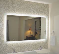 wall mounted lighted vanity make up mirror