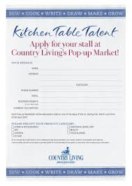 pop up market application form for 2017 country living spring fair