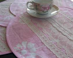 Shabby Chic Placemats by Lace Placemats Etsy
