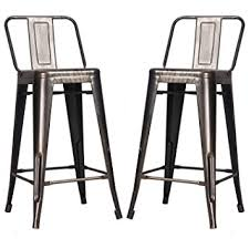 bar stool outdoor amazon com merax low back indoor and outdoor metal chair barstool