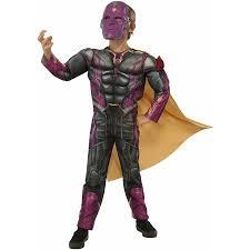Avengers Halloween Costume Avengers Vision Fiber Filled Child Halloween Dress Halloween