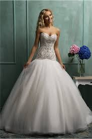 fitted wedding dresses fitted gown v back tulle satin beaded wedding dress