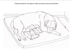 free printable coloring pages puppies