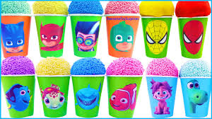 finding dory good dinosaur spiderman pj masks play doh ice cream