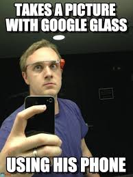 Phone Memes - takes a picture with google glass on memegen