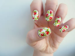 strawberry fields forever nail art tutorial precious polish march 2013