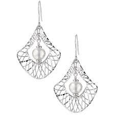 filigree earrings pearl filigree earrings sterling silver joia de majorca