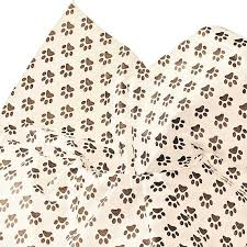 paw print tissue paper white and black paw print tissue paper for gift bags 15 x20 sheets