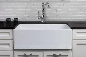 ALFI Brand AB Single Bowl Smooth Panel Fireclay Farmhouse - Fireclay apron front kitchen sink