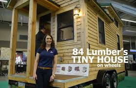 mobile tiny home plans 84 lumber u0027s new tiny house on wheels youtube