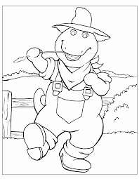 barney and friends coloring pages getcoloringpages com