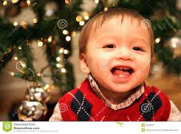 baby boy christmas baby boy at christmas royalty free stock photography image