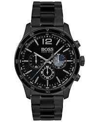 black bracelet mens watches images Boss hugo boss men 39 s chronograph professional black stainless tif