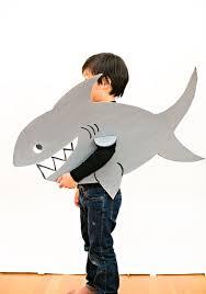 Halloween Costumes Shark Easy Shark Costume Kids Simple Cardboard Costume Idea