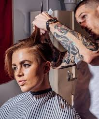 short hair cut pictures for hairstylist women are heading to the barbershop instead of the salon barber