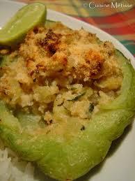 cuisiner les christophines christophines farcies au crabe suite de mon assiette caribéenne