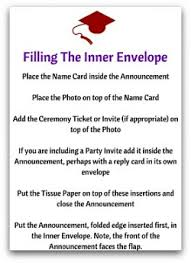 what to put on graduation announcements correct graduation announcement etiquette with ease