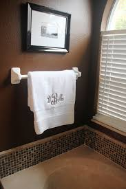 chocolate brown white bathroom pretty backsplash backsplash