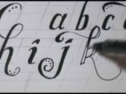 cursive lower case letters fancy cool easy step by step how to