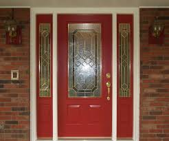 astonishing red door design idea with trellis stained glass gold