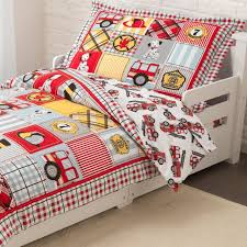 Firefighter Crib Bedding Truck Bed Sheets Elefamily Co