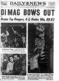 retirement announcement joe dimaggio announces retirement in 1951 ny daily news