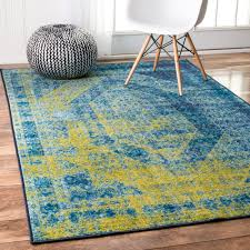 nuloom traditional vintage inspired overdyed blue rug 9 u0027 x 12