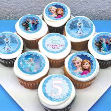 personalised cupcakes frozen personalised edible cupcake toppers 2 pre cut